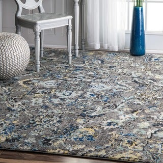 nuLOOM Modern Abstract Vintage Multi Area Rug (8' x 10')