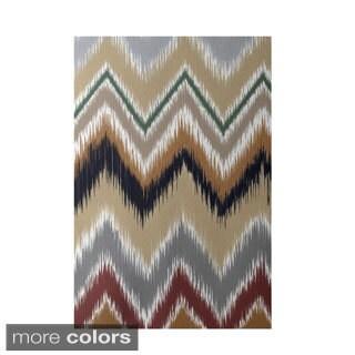 Decorative Tribal Chevron Stripe Pattern Area Rug (2' x 3')