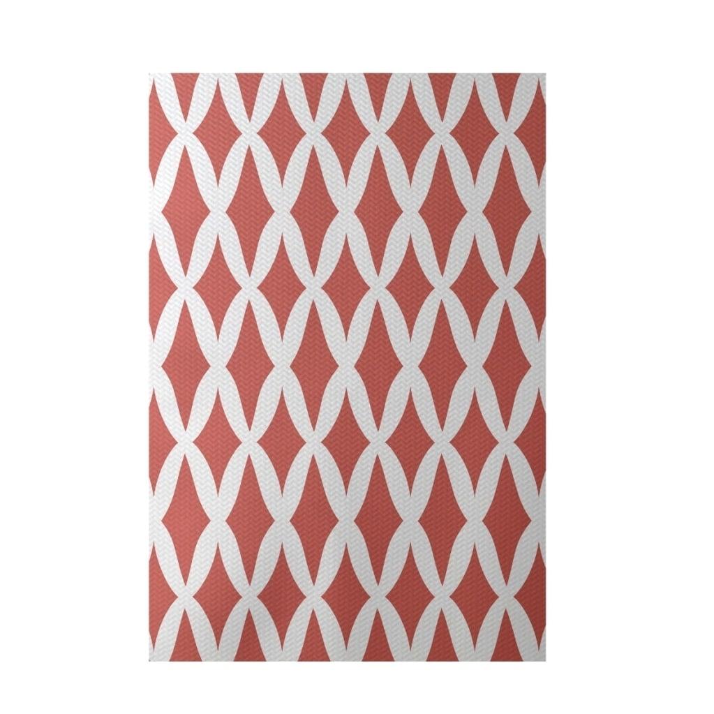 Decorative Geometric Lattice Pattern Area Rug (4' x 6')