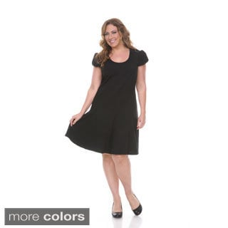Women's Plus-size 'Cara' Short Sleeve Dress
