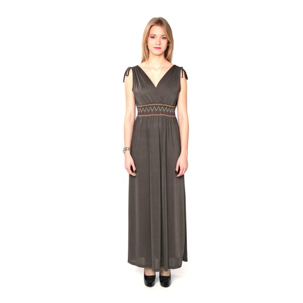 Nancy Yang Women's Smocked Waist Maxi Dress