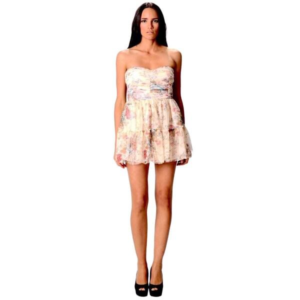 Sara Boo Women's Floral Print Ruffled Mini Dress