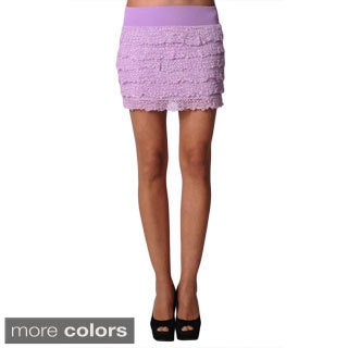 Sara Boo Women's Woven Ruffle Mini Skirt