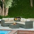 the-Hom Gran Melia 4-piece Grey Lounge Set