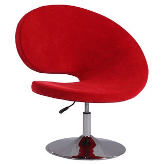 Christopher Knight Home Red Faux Velvet Modern Swivel and Adjustable Arm Chair