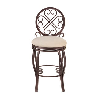 Christopher Knight Home Lizzy Brown Traditional Style Memory Swivel Counter Stool