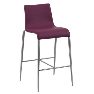 Christopher Knight Home Reilly Purple Upholstered Bar Stool (Set of 2)