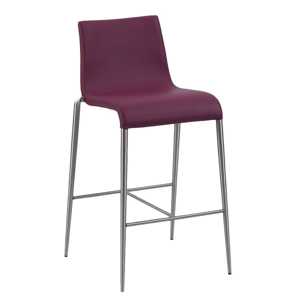 Christopher Knight Home Reilly Purple Upholstered Counter Stool (Set of 2)