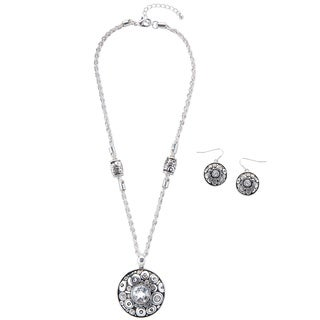 Kele & Co 'Bring on the Bling' Fashion Necklace and Earring Set