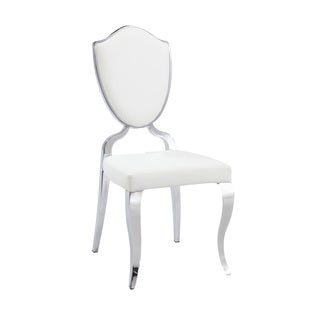 Christopher Knight Home Lexie White Shield Back Side Chair (Set of 2)