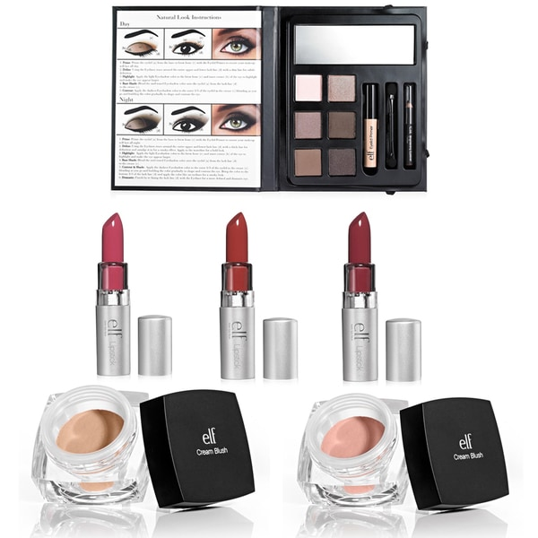 e.l.f. Day to Night Lipstick, Eyeshadow & Blush Collection