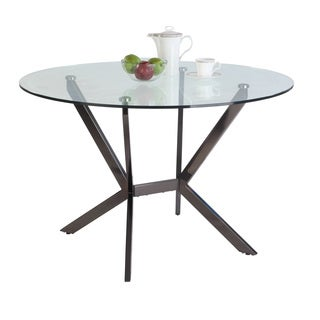 Christopher Knight Home Lynette 48-inch Round Glass Top Dining Table