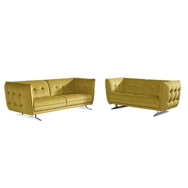 Lucas Fabric 2-piece Sofa and Loveseat Set