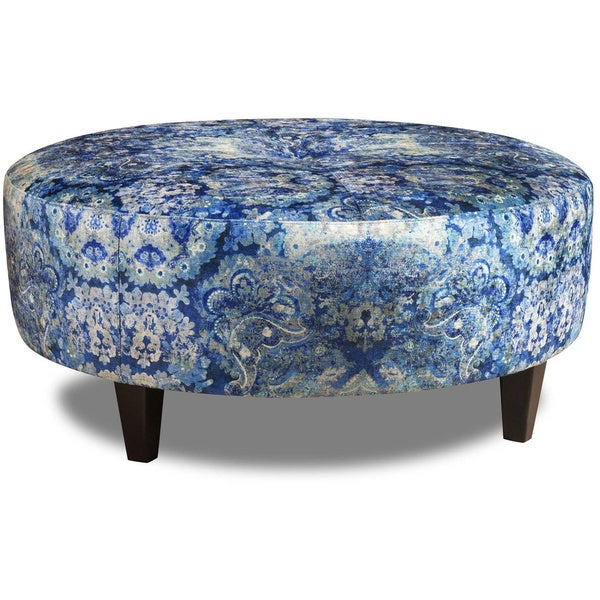 Tracy porter annistion upholstered cocktail ottoman for Porte ottoman