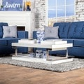 Furniture of America Lolie White Gloss Coffee Table
