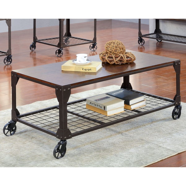Furniture of America Karina Industrial Style Coffee Table