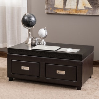Christopher Knight Home Grant Bonded Leather Adjustable Lift Top Table