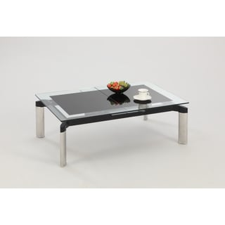 Christopher Knight Home Tamra Black Glass Top Cocktail Table