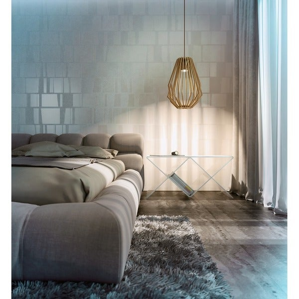 Saki LED Wood 1-light LED Pendant