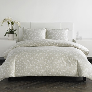 Everrouge White Lotus King Size 7 Piece Cotton Duvet Cover