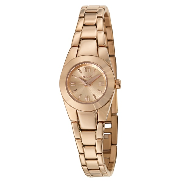 Fossil Relic Women's ZR34208 'Payton' Stainless Steel Rose Goldplated Quartz Watch