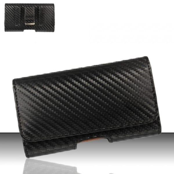 Insten Black Premium Horizontal Pouch Phone Case Cover With Magnetic Flip/ Belt Clip