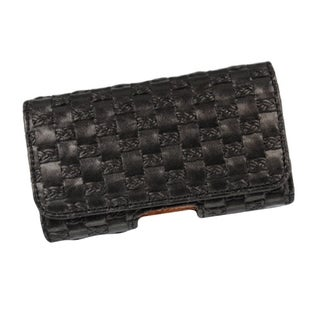 Insten Black Premium Horizontal Pouch Phone Case Cover With Magnetic Flip/ Belt Clip For HTC EVO 4G
