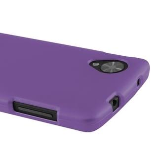 Insten Purple Hard Plastic PC Rubberized Matte Slim Snap-On Phone Case Cover For LG Nexus 5 D820/ D821