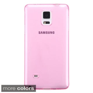 Insten Glossy Transparent TPU Candy Skin Ultra-Slim snap-On Phone Case Cover For Samsung Galaxy Note 4