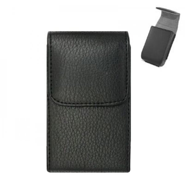 Insten Black Premium Vertical Pouch Phone Case Cover With Magnetic Flip/ Belt Clip For LG Imprint MN240