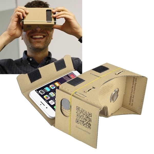 INSTEN Cardboard 3D DIY Virtual Reality Glasses with Headband For Android OS