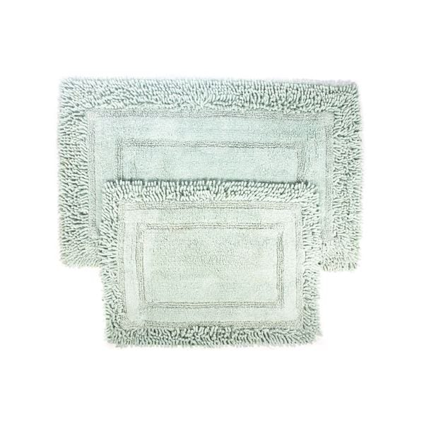 Savory Shaggy Two-piece Bath Mat Set