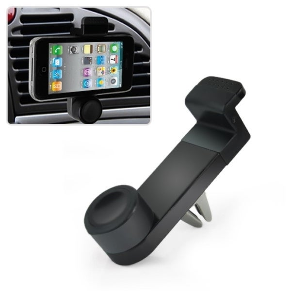 Insten 360 Degree Rotatable Portable Car Air Vent Phone Holder For 3.5-6.3-inch Smartphone