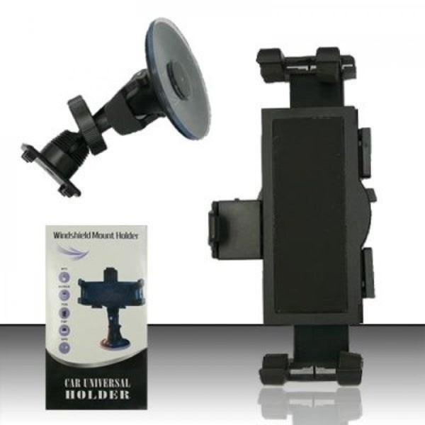 Insten Black Universal Windshield Suction Car Mount Phone Holder
