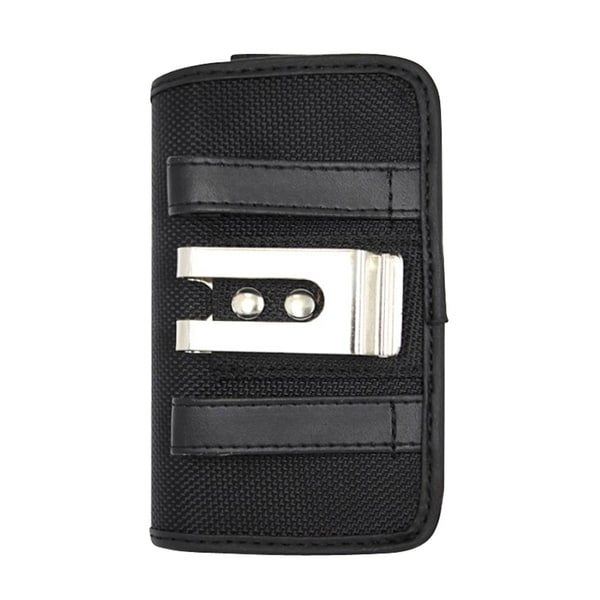 Insten Black Horizontal Canvas Fabric Pouch Phone Case Cover For Samsung Galaxy Note II