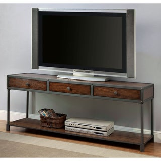 Furniture of America Thorne Antique Oak Industrial 60-inch TV Stand
