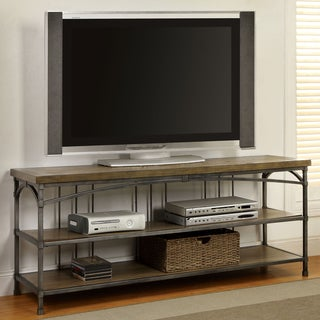 Furniture of America Perri Natural Industrial 60-inch TV Console