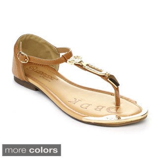 DBDK DBDK-11 Women's Stud Ankle T-strap Sandals