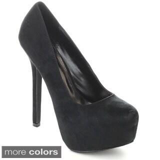 Breckelle's MARISA-31 Women's Hidden Platform Stiletto Heel Pumps