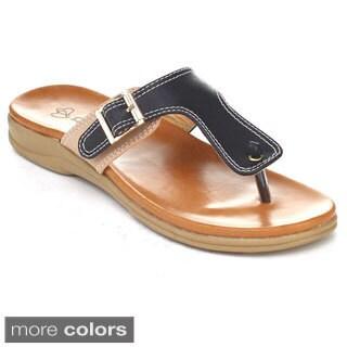 DBDK Women's Nadine-2 Slide On Beach Thong Flip Flops Sandals