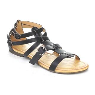 DBDK Women's Elmer-2 Ankle Strap Gladiator Flat Sandals