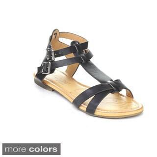 DBDK Women's Elmer-1 Ankle Strap Gladiator Sandals