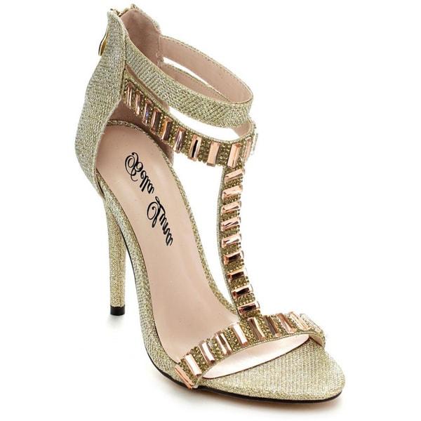 Bella Luna Women's Loretta-11 Rhinestones High Heels