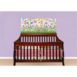 Flower Garden Peel and Stick Baby Crib Mural