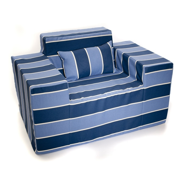Softblock Blueberry Blue Striped Chair