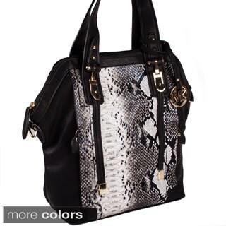 Michael Michelle 'Sadie' Snake Skin Shoulder Handbag