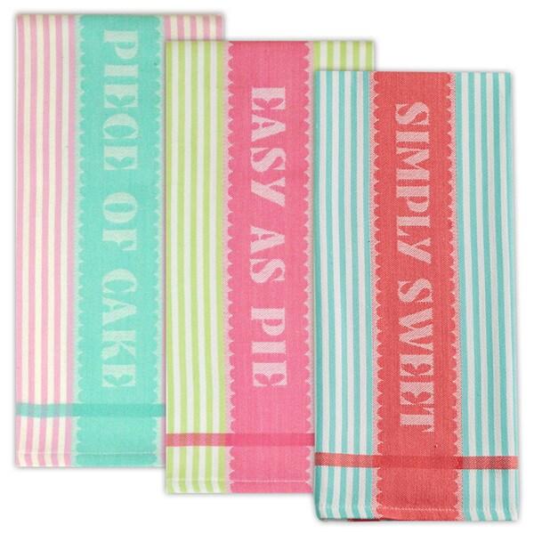 Sweet Shoppe Jacquard Dishtowels (Set of 3)