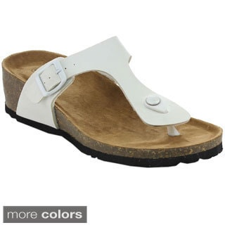 Betani Women's Leah-1 T-strap Beach Sandals
