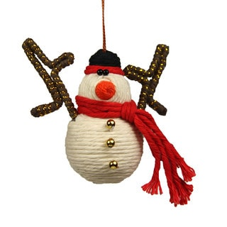 Snowman Yarn Ornament (Colombia)