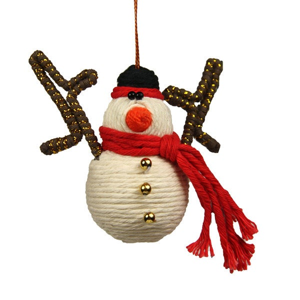 Snowman Yarn Ornament (Colombia)